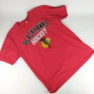 Majestic Chicago Blackhawks T-Shirt NHL XL Red